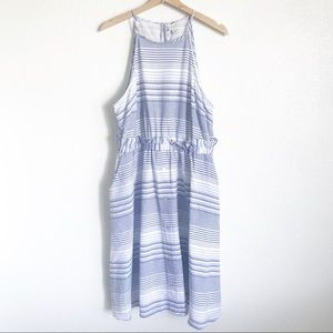 A NEW DAY Striped Sleeveless Cinched Waist Dress